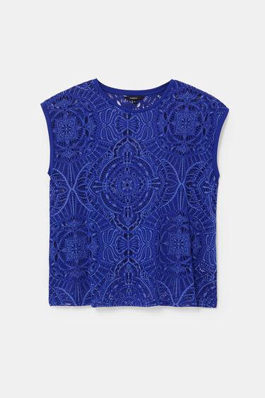 T-shirt perforé sans manches | Desigual