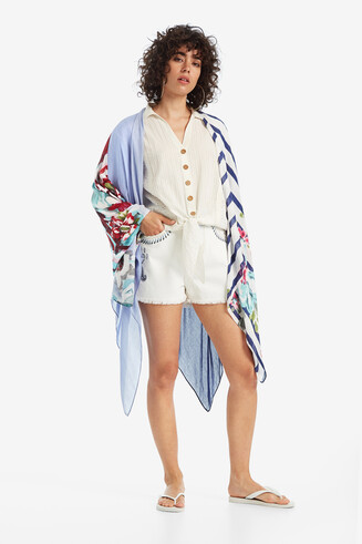 Poncho with Prints Adelaida