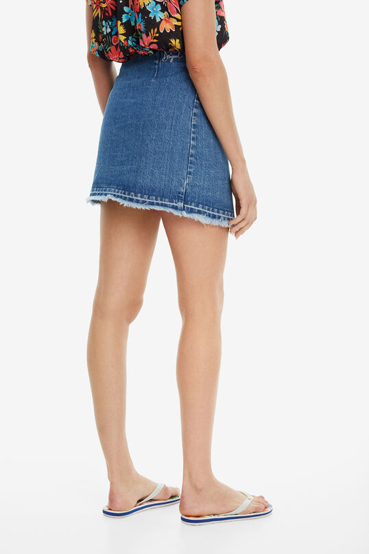 Tropischer Jeans-Wickelrock Leiria | Desigual