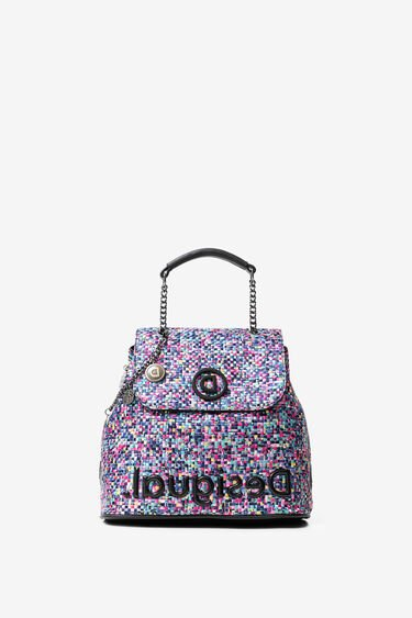 Multicolour braided backpack | Desigual