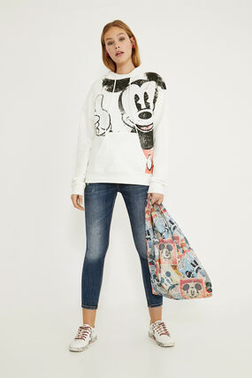 Hooded cotton illustrated sweatshirt