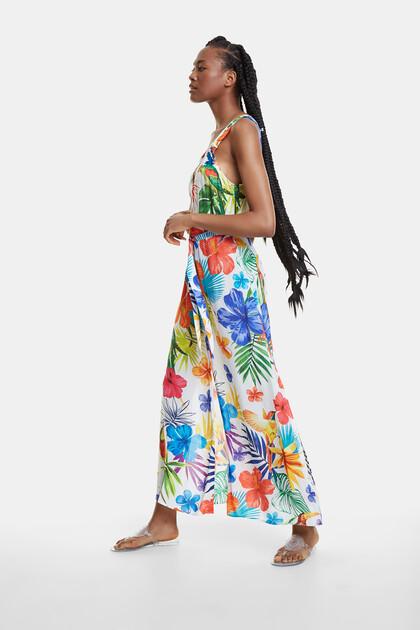Robe de plage longue et florale