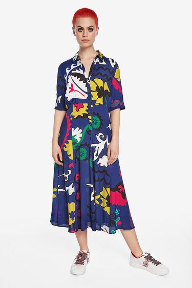 Long arty shirt dress | Desigual