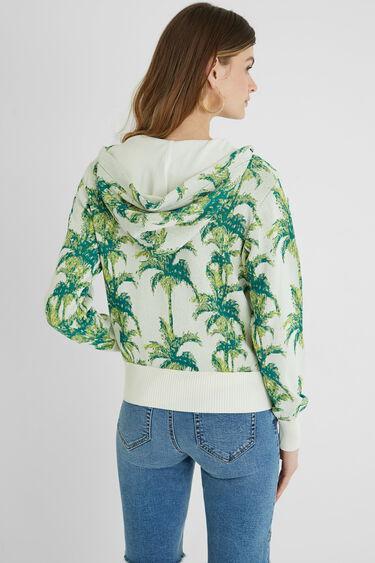 Tropical hooded sweatshirt jacket | Desigual