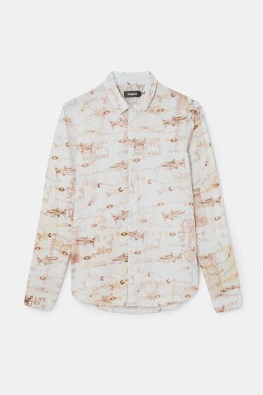 Printed cotton poplin shirt | Desigual