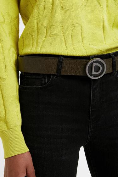Reversible belt logo plaque | Desigual