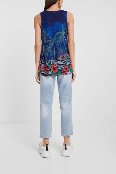 Floral multilayer T-shirt | Desigual