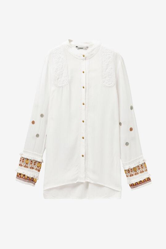 White Shirt with Boho Cuffs Iman | Desigual