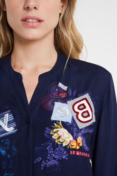 Chemise broderie lettering | Desigual