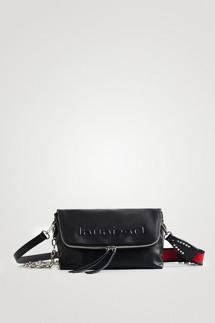 Leather-effect sling handbag
