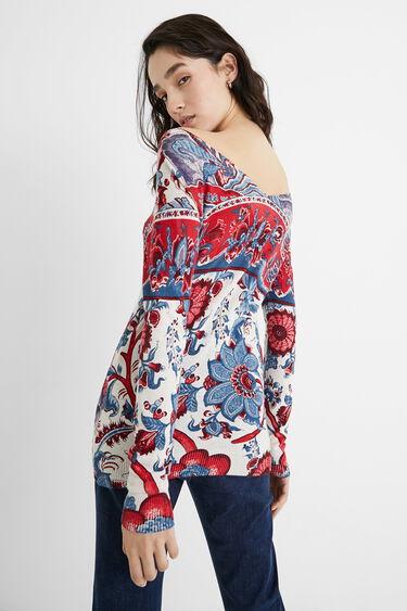 Floral knit jumper | Desigual