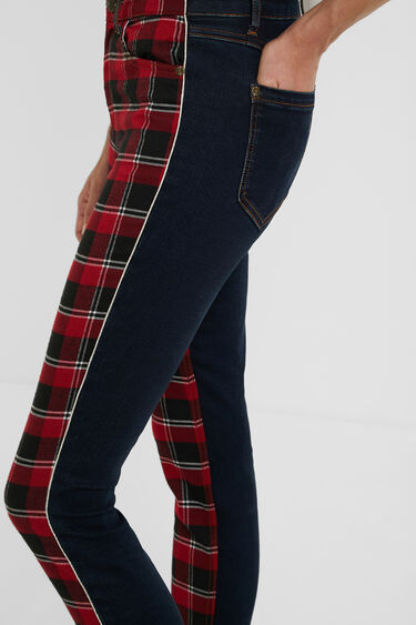 Skinny tartan jeans | Desigual