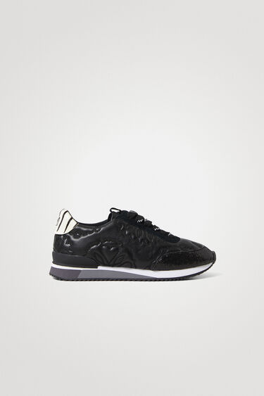 Runner sneakers van kunstleer met reliëfprint | Desigual