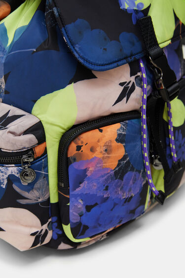 Padded floral backpack | Desigual