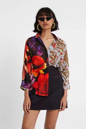 Blusa asimétrica seda y algodón Designed by M. Christian Lacroix