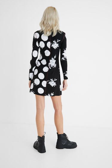 Slim double print dress | Desigual