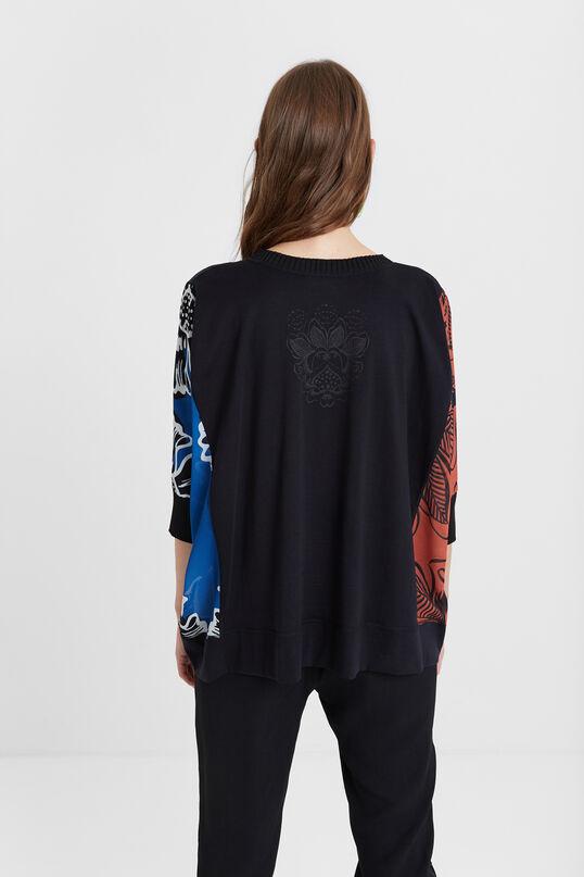 Sweter oversize w kwiaty | Desigual