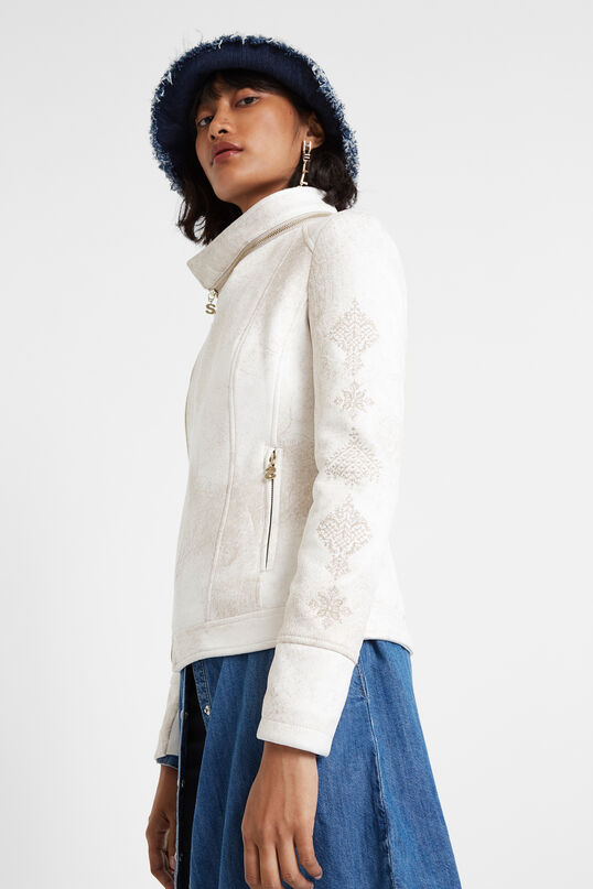 Biker-Jacke mit ausfaltbarem Kragen | Desigual