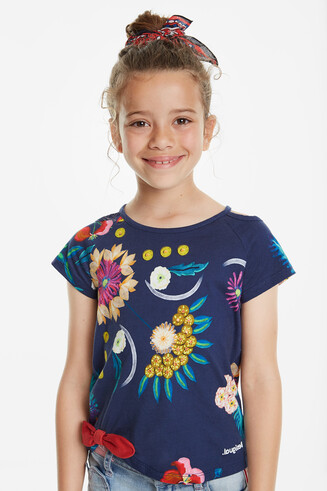 T-shirt floral print with openings