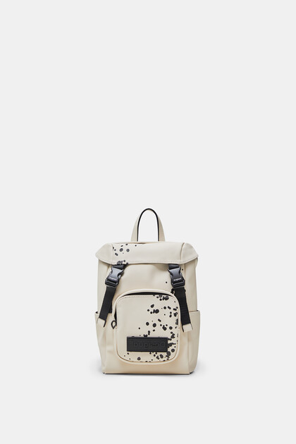 Small arty canvas backpack