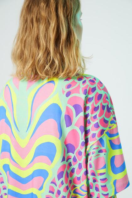 Langes Shirt Fantasiemuster