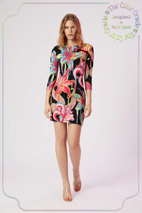 Slim dress 3/4 sleeve
