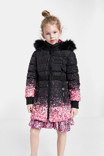 Long padded jacket glitter