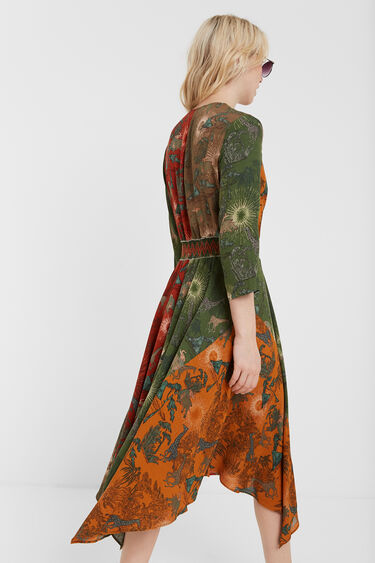 Vestido étnico asimétrico | Desigual