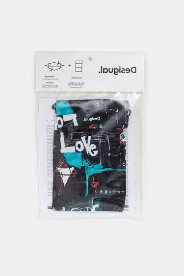 Love reversible mask + pouch | Desigual
