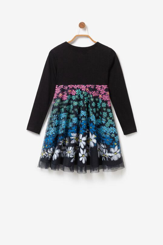 Vestit evasé capa gasa floral multicolor | Desigual
