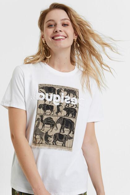 T-shirt com aplicação 100% algodão
