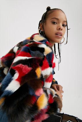 Loose fur jacket