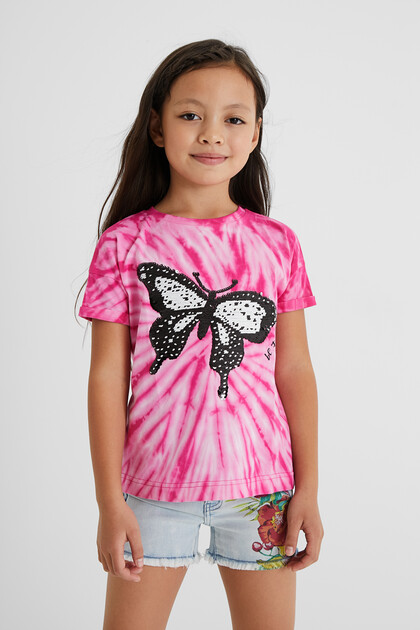 T-shirt butterfly reversible sequins