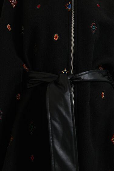 Poncho cremallera bordados | Desigual