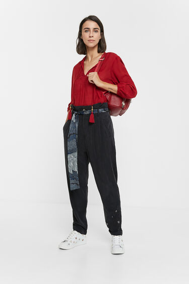Pleated trousers scarf | Desigual