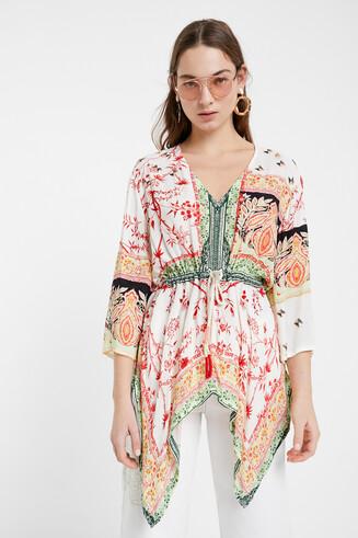 Kaftan blouse ethnic motifs