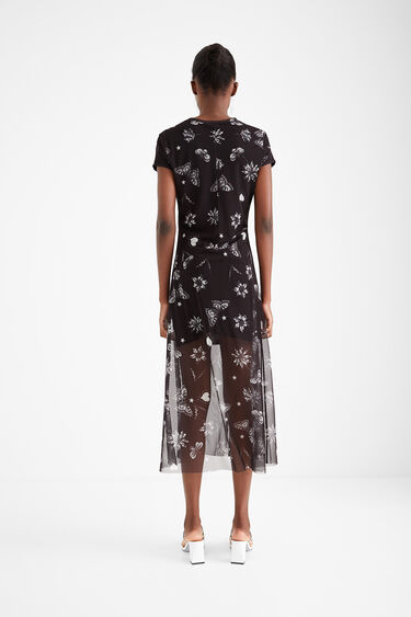 Double-layer tulle dress with message   Desigual