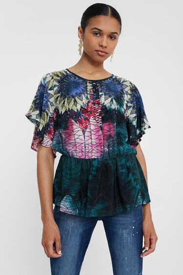 Blouse, gathered waist | Desigual