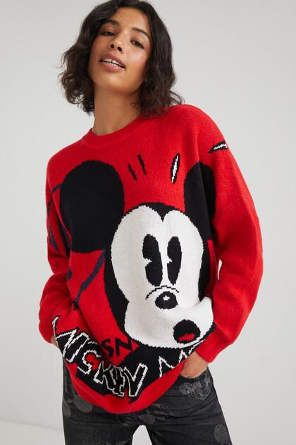 Jacquard trui met Mickey