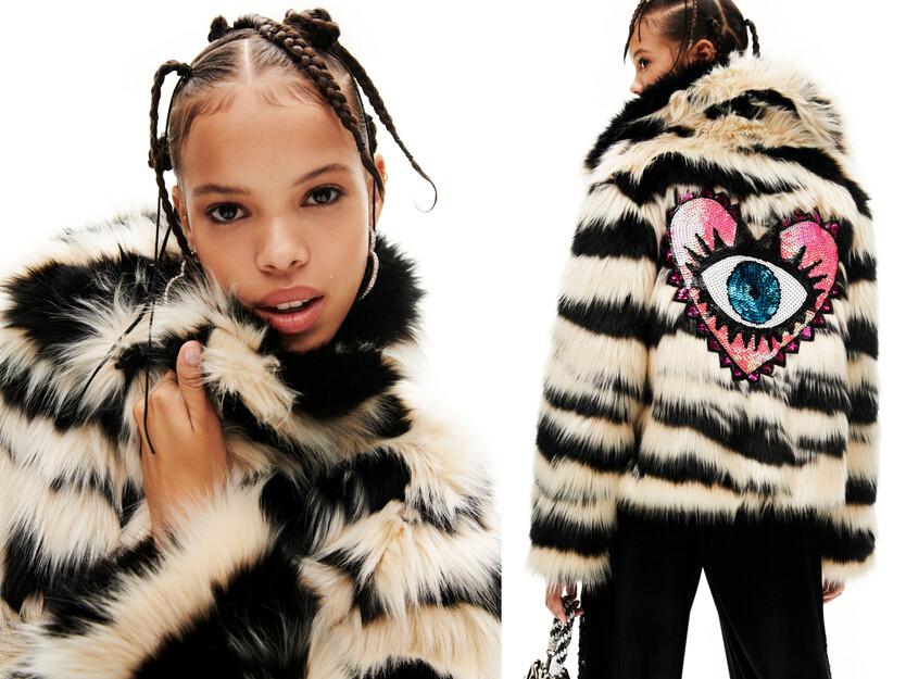 Jaqueta curta peluix animal print