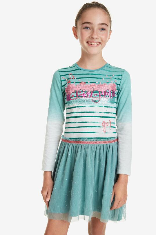 Sequinned Dip-Dye Dress Depansar | Desigual