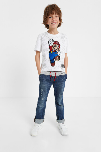 Super Mario T-shirt sequins