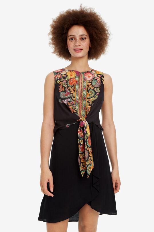 Black dress with floral body Vilma   Desigual