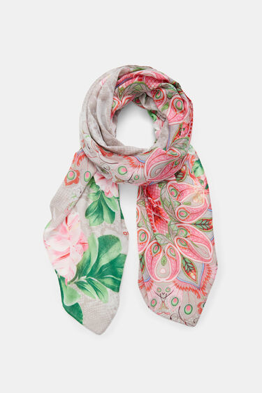 Rectangular foulard flower | Desigual