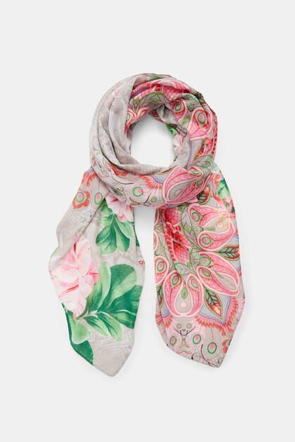 Fulard rectangular flor