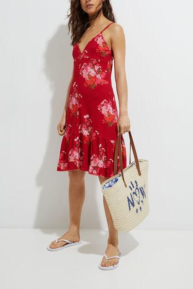 Flared flounced midi-dress | Desigual