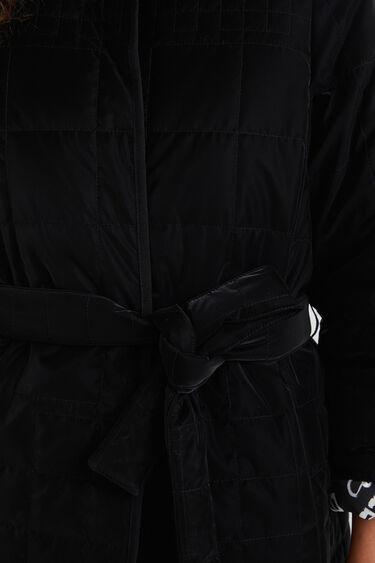 Abric padded cinturó | Desigual