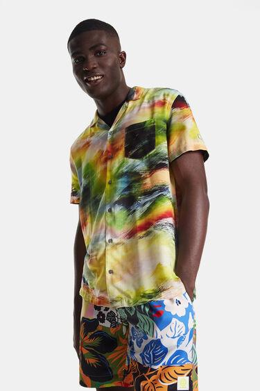 Shirt met een psychedelische schemeravond | Desigual