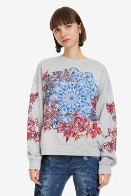 Duna Grey Mandala Sweatshirt