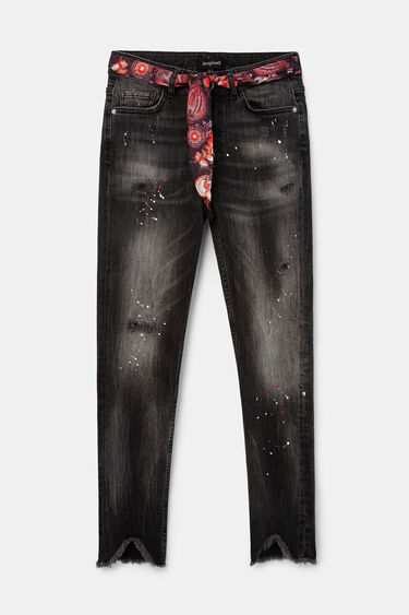 Jean skinny ceinture toile | Desigual